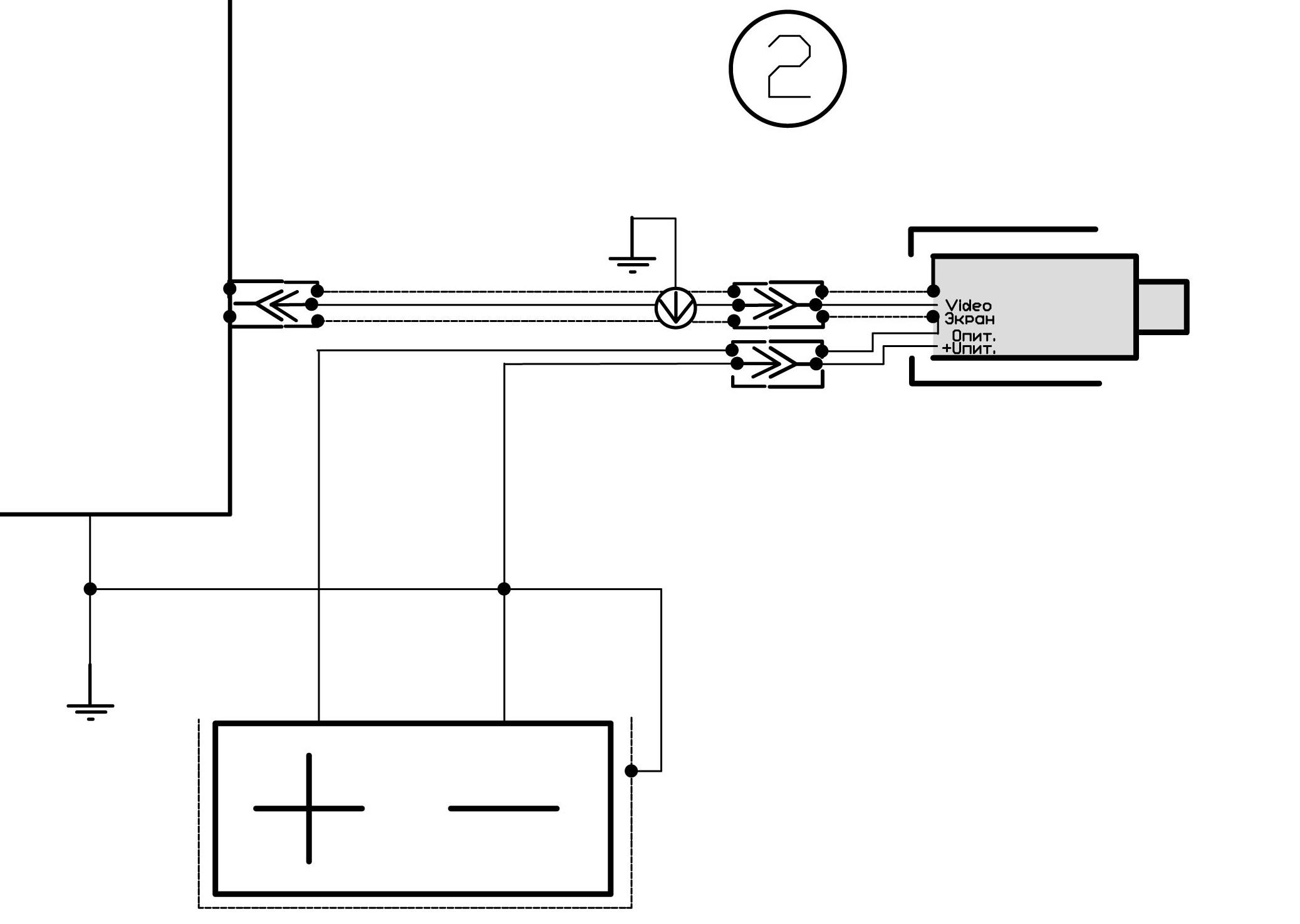 Схема крепление камеры